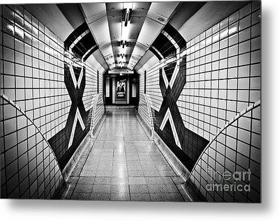Piccadilly Circus Subway Metal Print by Lana Enderle