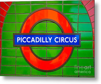 Metal Print featuring the photograph Piccadilly Circus Tube Station by Luciano Mortula