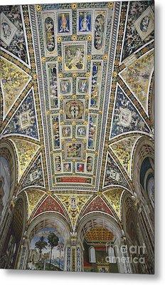 Piccolomini Library Of  Siena Duomo Metal Print by Sami Sarkis