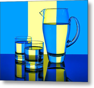 Pichet Et Verres Metal Print by Nikolyn McDonald