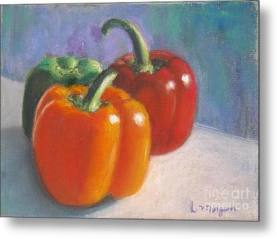 Pick A Pepper Metal Print by Laurie Morgan
