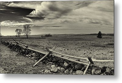 Picketts Charge The Angle Black And White Metal Print by Joshua House