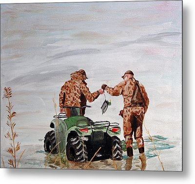 Picking Up The Decoys Metal Print by Kevin Callahan