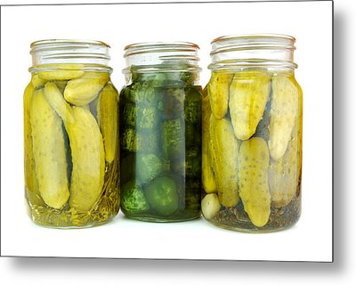 Pickle Jars Metal Print