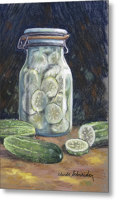 Pickled Cucumbers Metal Print