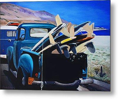 Pickup Truck Metal Print by Chikako Hashimoto Lichnowsky