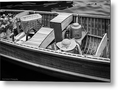 Metal Print featuring the photograph Picnic Boat by Ross Henton
