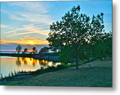 Picnic Lake Metal Print by Frozen in Time Fine Art Photography