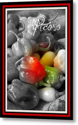 Picoso Peppers Metal Print by Heidi Manly