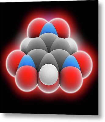 Picric Acid Molecule Metal Print by Laguna Design