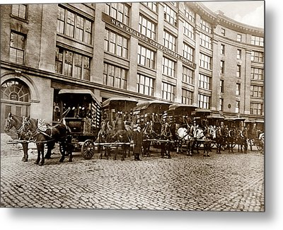 Picture 14 - New - New England Confectionery Co With Horses  Wide Metal Print by Darlene Kwiatkowski