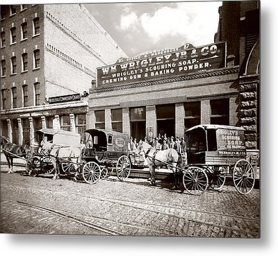 Picture 2 - Kinsie Street 1894 Metal Print by Darlene Kwiatkowski