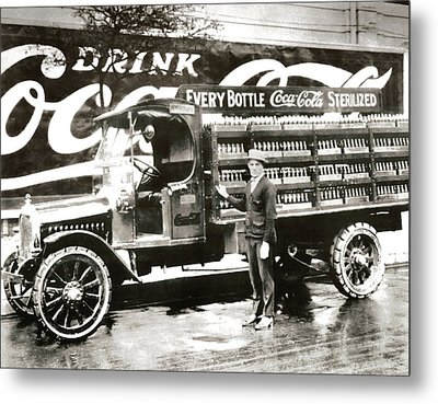 Picture 7 - New - Coca Cola Delivery Truck Metal Print by Darlene Kwiatkowski