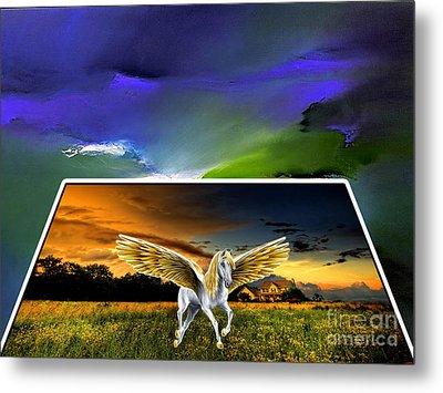 Picture A Pegasus Metal Print
