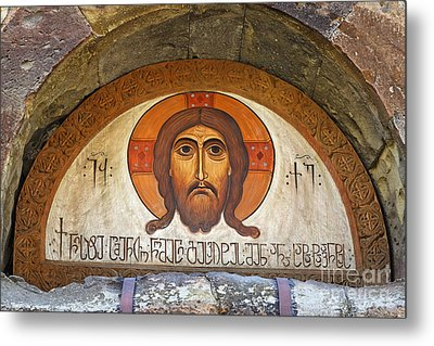 Picture Of Jesus Inside The Tsminda Sameba Cathedral Tbilisi Metal Print