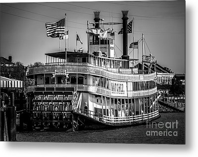 Picture Of Natchez Steamboat In New Orleans Metal Print