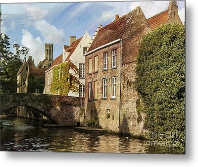 Picturesque Bruges Metal Print by Juli Scalzi