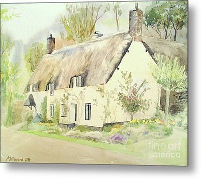 Picturesque Dunster Cottage Metal Print