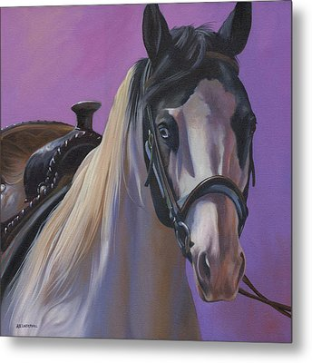 Metal Print featuring the painting Piebald by Alecia Underhill