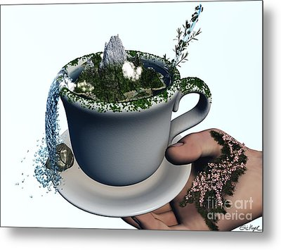 Piece Of Nature Cup Metal Print by Eric Nagel