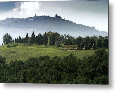 Pienza Tuscany Metal Print by Al Hurley