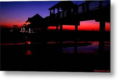 Pier 60 In After Glow 2 Metal Print