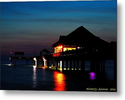 Pier 60 In After Glow Metal Print