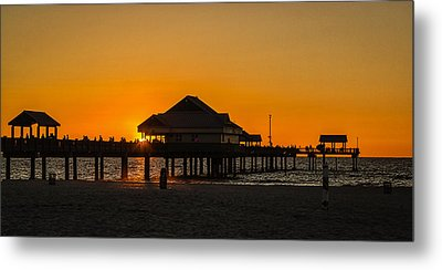 Pier 60 Sunset Metal Print
