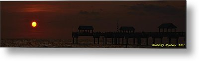 Metal Print featuring the photograph Pier 60 Sunset Panorama by Richard Zentner