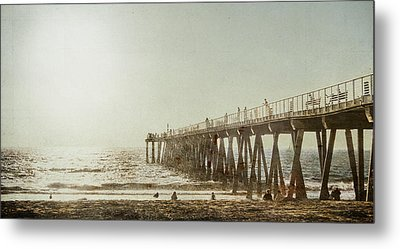 Metal Print featuring the photograph Pier Approaching Sunset by Kevin Bergen
