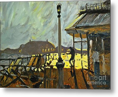 Pier At Brighton Metal Print