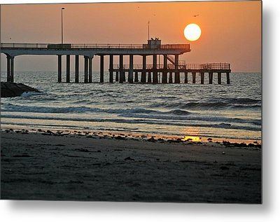 Metal Print featuring the photograph Pier At Dawn by John Collins
