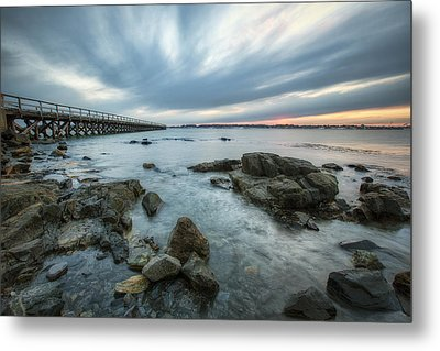 Pier At Dusk Metal Print by Eric Gendron