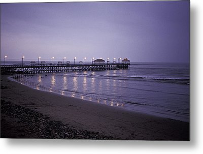 Metal Print featuring the photograph Pier At Dusk by Lana Enderle
