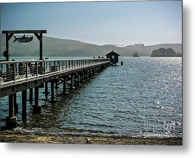 Pier At Nick's Cove Metal Print