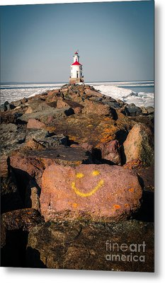 Metal Print featuring the photograph Pier Happiness by Mark David Zahn