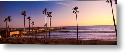 Pier In The Pacific Ocean, San Clemente Metal Print by Panoramic Images