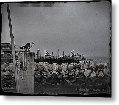 Metal Print featuring the photograph Pier Lights by Kevin Bergen
