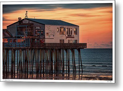 Pier Patio Metal Print