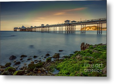 Pier Seascape Metal Print by Adrian Evans