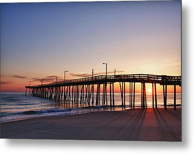Pier Sunrise Metal Print by Gregg Southard