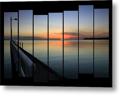 Pier View Sunset Metal Print