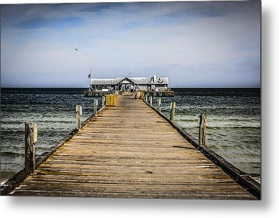 Pier Walkway Metal Print by Chris Smith