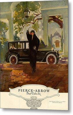 Pierce-arrow  1920s Usa Cc Cars Pierce Metal Print by The Advertising Archives