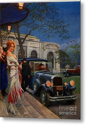 Pierce Arrow  1920s Usa Cc Cars Womens Metal Print by The Advertising Archives