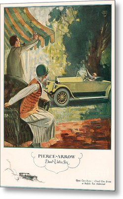 Pierce Arrow 1925 1920s Usa Cc Cars Metal Print by The Advertising Archives