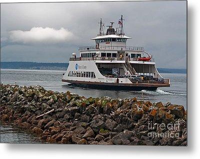 Pierce County Washington Ferry Metal Print by Valerie Garner