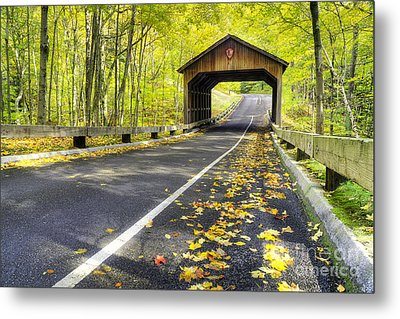 Pierce Stocking Scenic Drive In Fall Metal Print by Twenty Two North Photography
