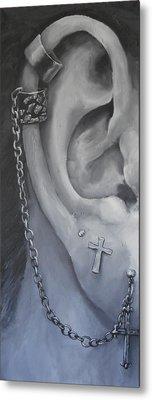 Pierced Ear Metal Print by David Dempsey