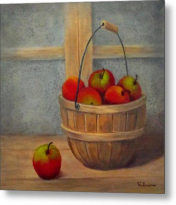 Metal Print featuring the painting Pies Anyone by Roseann Gilmore